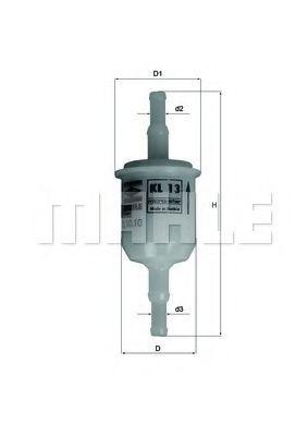 Фильтр топливный Mahle  арт. KL13OF