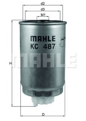 FILTR PALIWA KNECHT/MAHLE KC 487 FIAT FREEMONT 2,0JTD 11-/DODGE CALIBER/JEEP COMPASS  арт. KC487