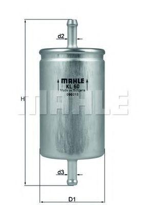 Фільтр палива  арт. KL60