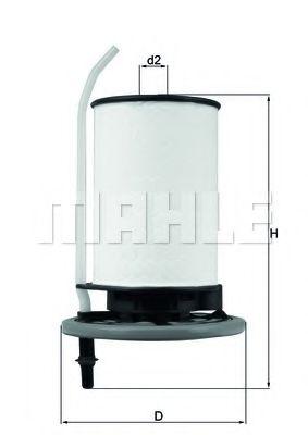 Фильтр топливный Mahle  арт. KX398