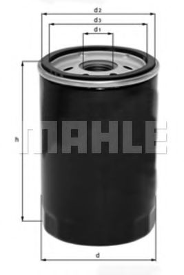Фильтр масляный Mahle  арт. OC602