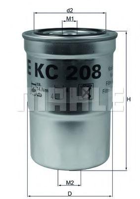 Фильтр топливный MAHLEORIGINAL KC208
