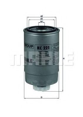 Фильтр топливный MAHLEORIGINAL KC221
