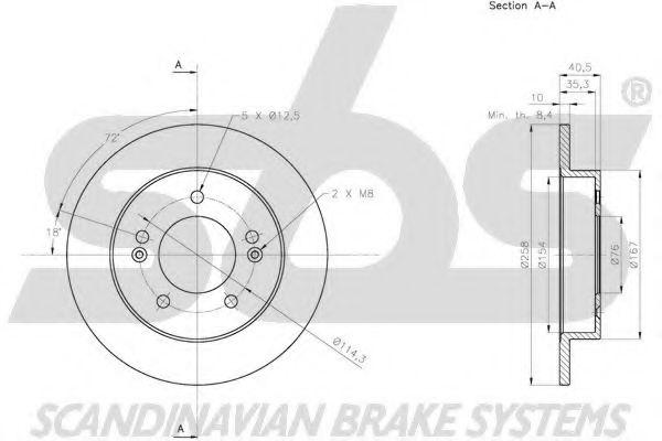 Диск тормозной SBS 1815313533