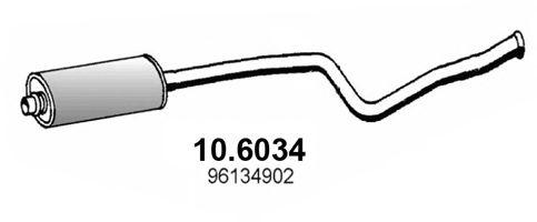 Глушитель Средний глушитель выхлопных газов ASSO арт. 106034