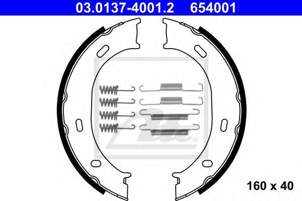 Гальмівні колодки, барабанні ATE 03013740012