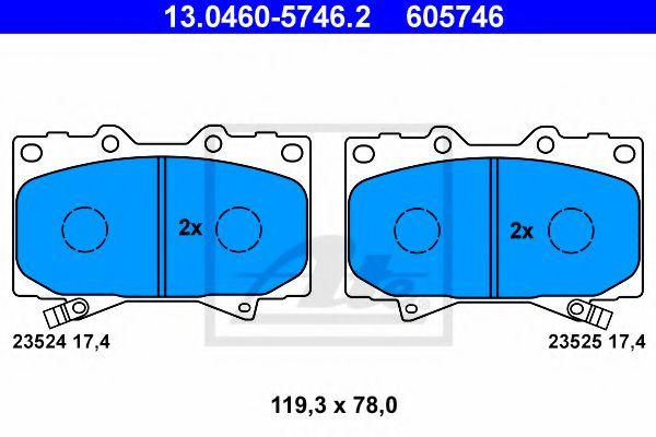 Гальмівні колодки, дискові ATE 13046057462