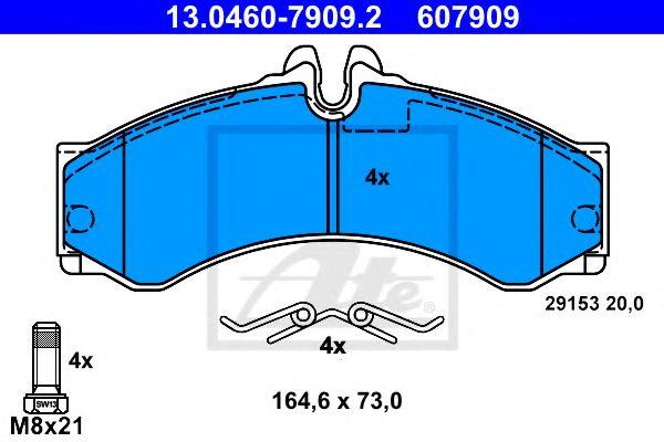 Гальмівні колодки, дискові ATE 13046079092
