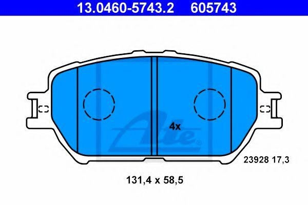 Гальмівні колодки, дискові ATE 13046057432