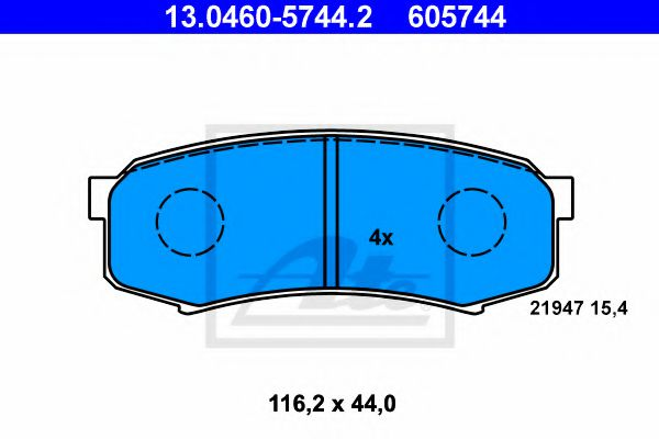 Гальмівні колодки, дискові ATE 13046057442