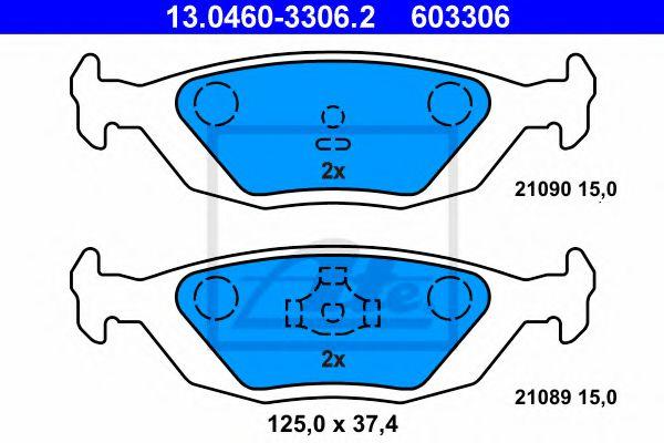 Комплект тормозных колодок, дисковый тормоз  арт. 13046033062