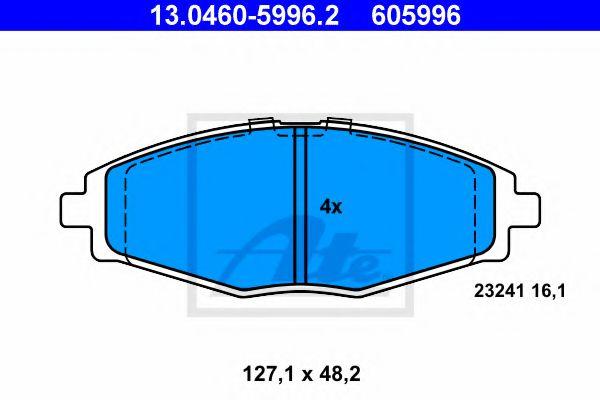 Гальмівні колодки, дискові ATE 13046059962