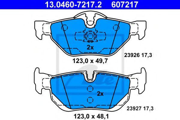 Гальмівні колодки, дискові ATE 13046072172
