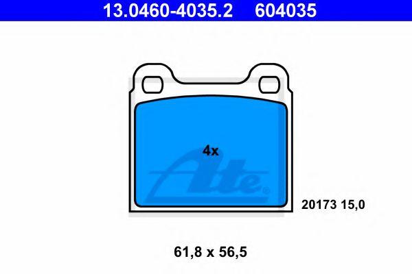 Комплект тормозных колодок, дисковый тормоз  арт. 13046040352