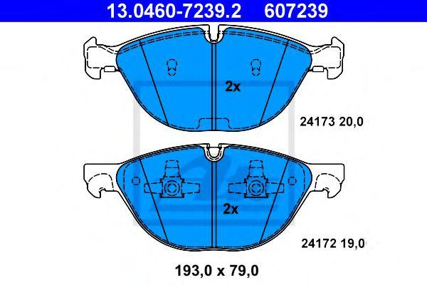 Гальмівні колодки, дискові ATE 13046072392