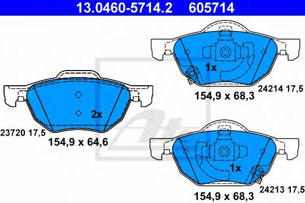 Гальмівні колодки, дискові ATE 13046057142