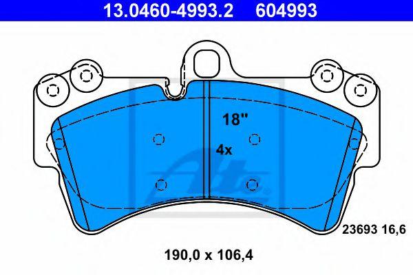 Гальмівні колодки, дискові ATE 13046049932