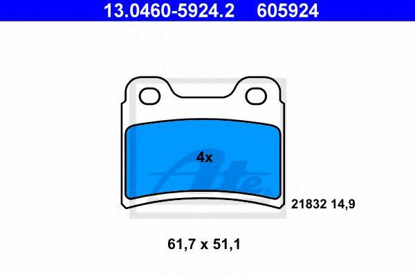 Тормозные колодки барабанные колодки гальмівні барабанні ATE арт. 13046059242