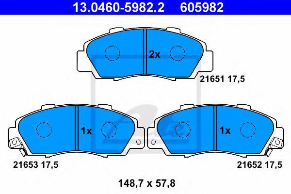 Комплект тормозных колодок, дисковый тормоз  арт. 13046059822