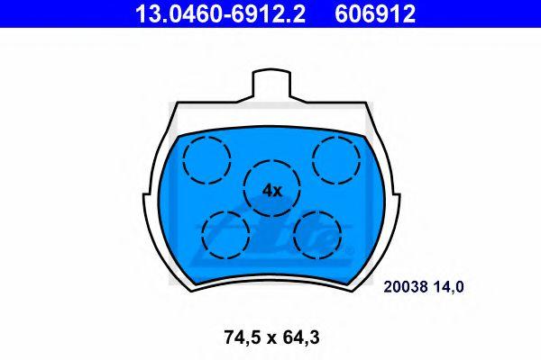 Тормозные колодки барабанные колодки гальмівні барабанні ATE арт. 13046069122