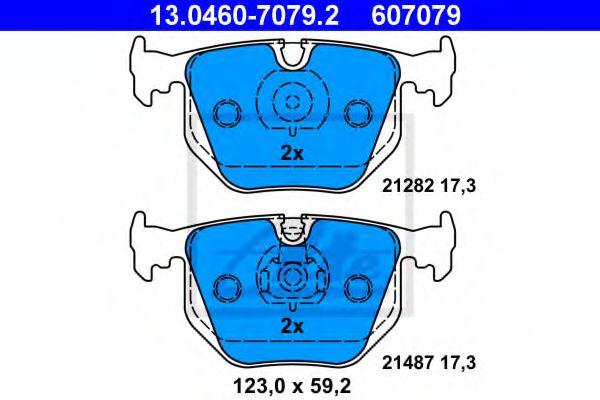 Гальмівні колодки, дискові ATE 13046070792