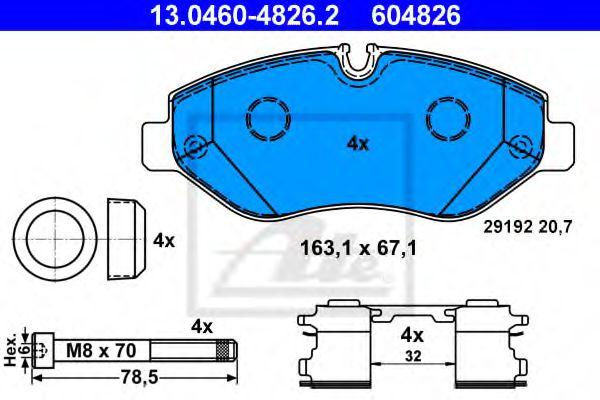 Гальмівні колодки, дискові ATE 13046048262