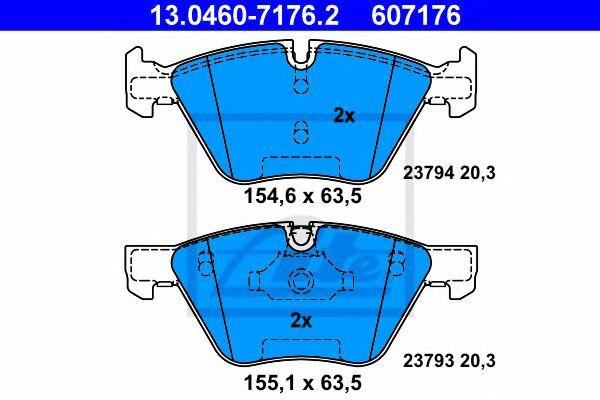 Гальмівні колодки, дискові ATE 13046071762