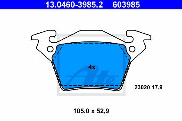 Гальмівні колодки, дискові ATE 13046039852