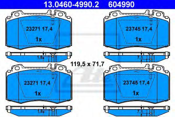 Гальмівні колодки, дискові ATE 13046049902