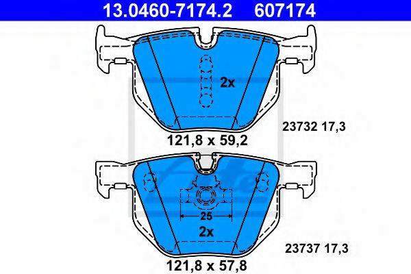 Гальмівні колодки, дискові ATE 13046071742