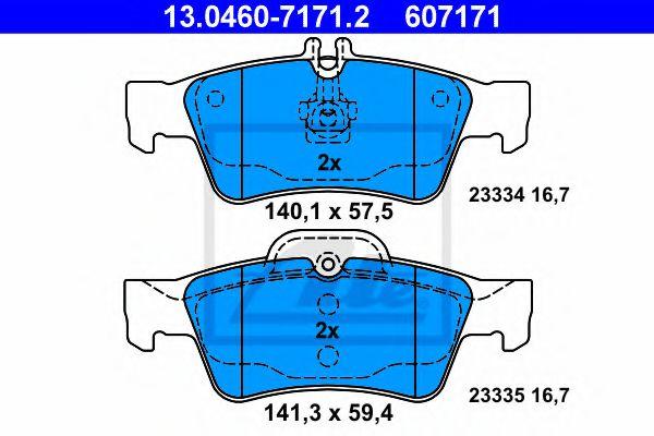 Гальмівні колодки, дискові ATE 13046071712