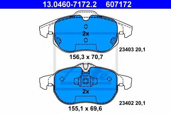 Гальмівні колодки, дискові ATE 13046071722