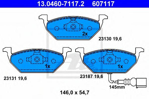 Дисковые тормозные колодки, комплект JP GROUP арт. 13046071172