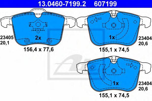 Тормозные колодки Комплект тормозных колодок, дисковый тормоз LPR арт. 13046071992