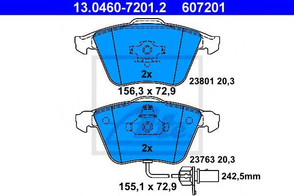 Гальмівні колодки, дискові ATE 13046072012