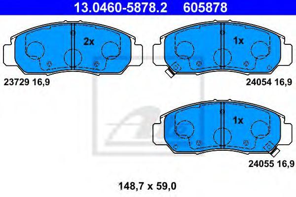 Гальмівні колодки, дискові ATE 13046058782