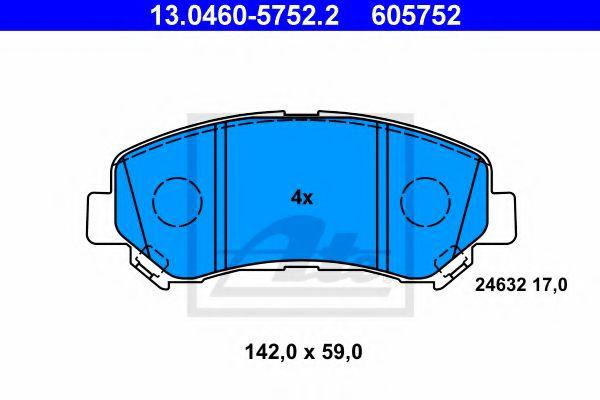 Гальмівні колодки, дискові ATE 13046057522