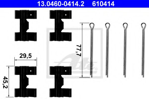 Комплектующие, колодки дискового тормоза  арт. 13046004142
