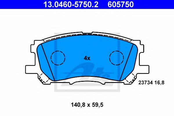 Гальмівні колодки, дискові ATE 13046057502