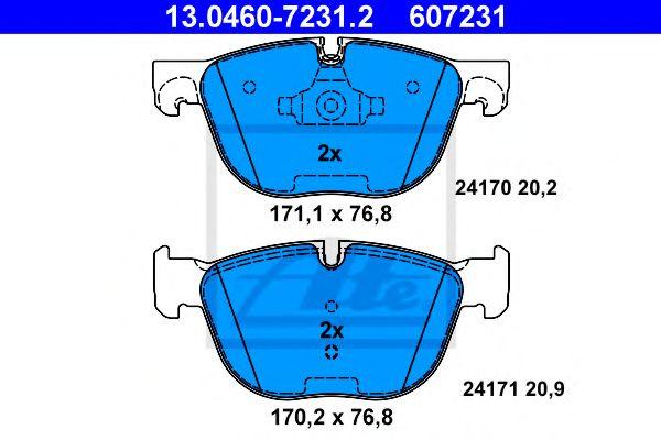 Гальмівні колодки, дискові ATE 13046072312