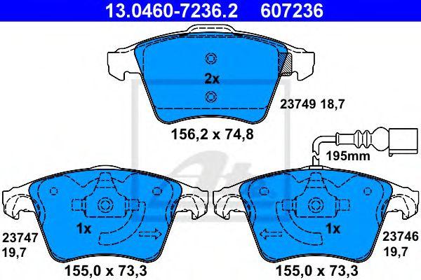 Гальмівні колодки, дискові ATE 13046072362