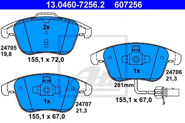 Гальмівні колодки, дискові ATE 13046072562