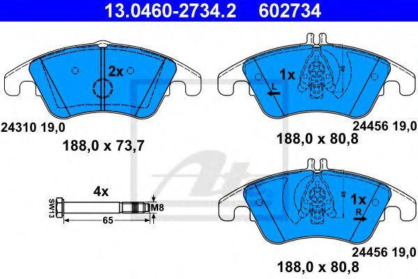 Гальмівні колодки, дискові ATE 13046027342