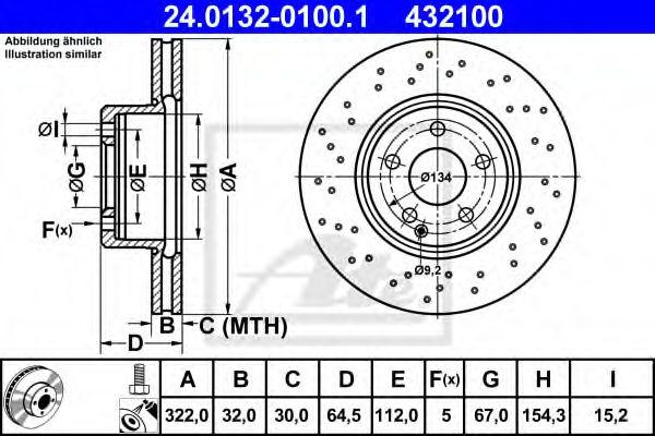 Тормозной диск ATE 24013201001