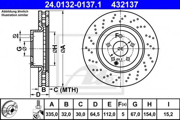 Тормозной диск ATE 24013201371