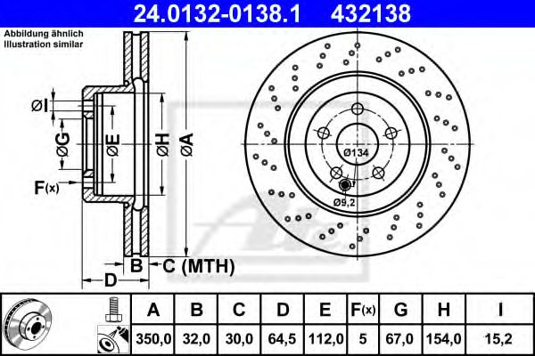 Диск тормозной ATE 24013201381