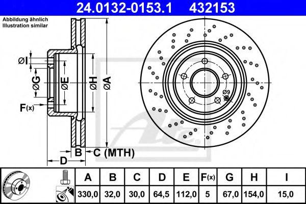 Тормозной диск ATE 24013201531