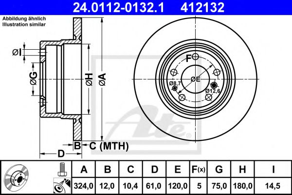 Тормозной диск  арт. 24011201321
