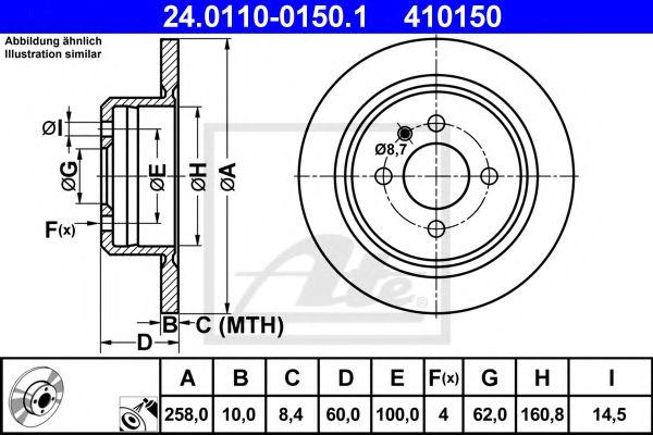 Гальмівний диск REMSA арт. 24011001501