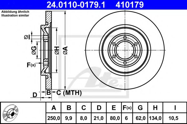 Тормозной диск  арт. 24011001791